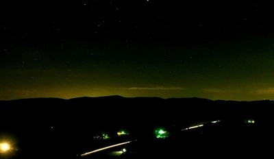 Night over the Brushy Mountains