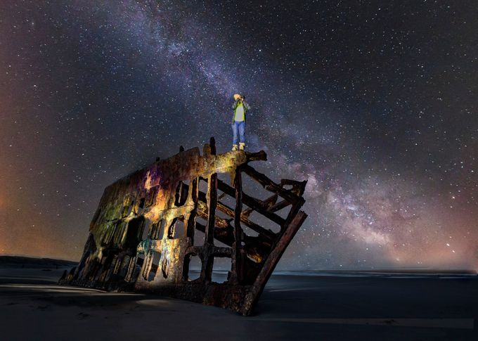 Milky Way And The Peter Of Iredale by GigiJim08 - Large Photo Contest