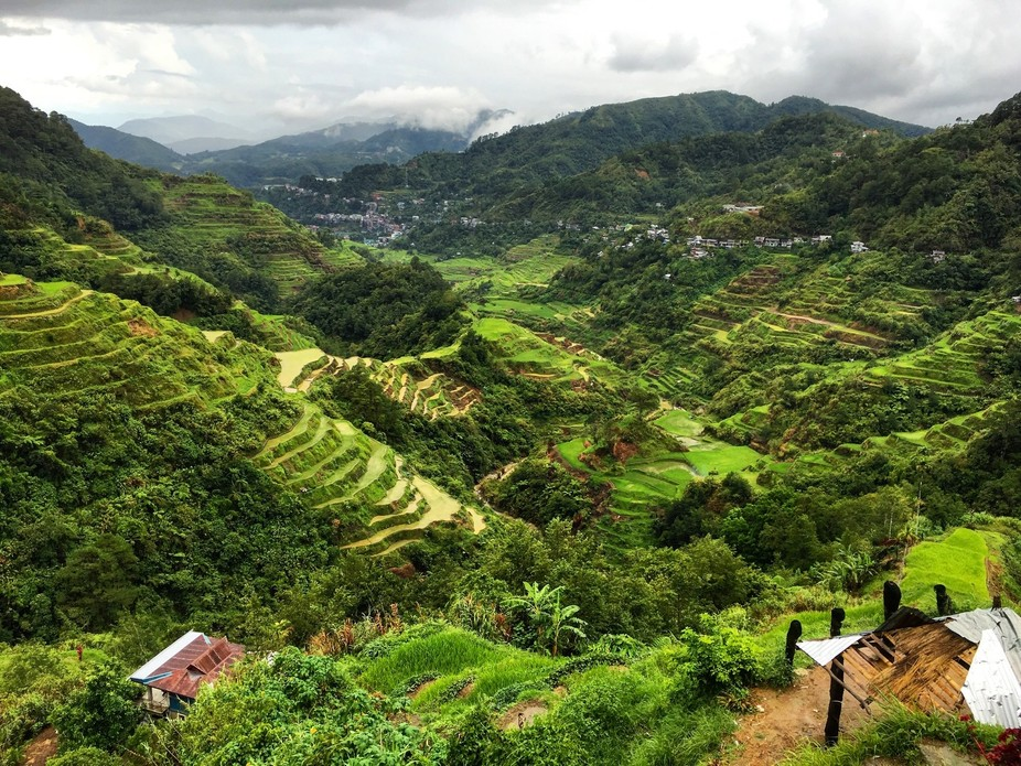 The vista of the famed Banaue Rice Terraces seen the viewpoint