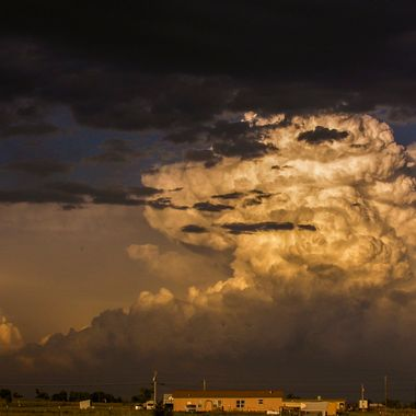 Summer storms are common in this area, but few as dramatic as this one!
