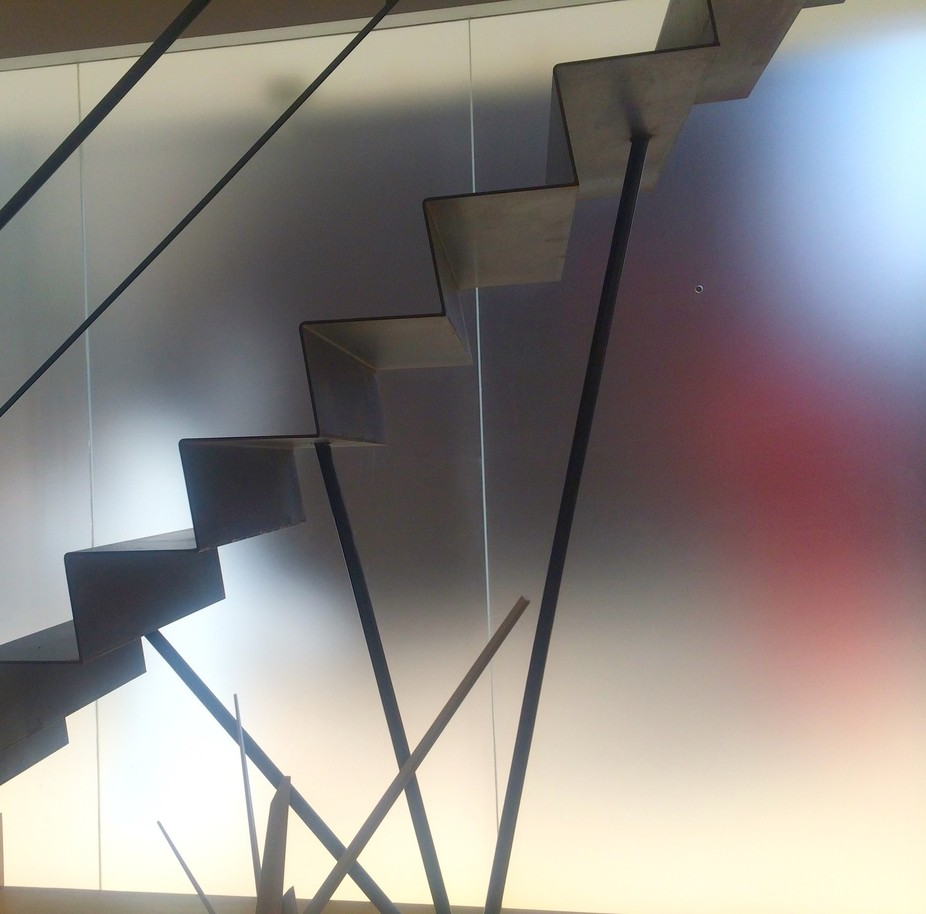 I call the photo this because these are the stairs in the Jim Kempner Fine Art Gallery in New Yor...