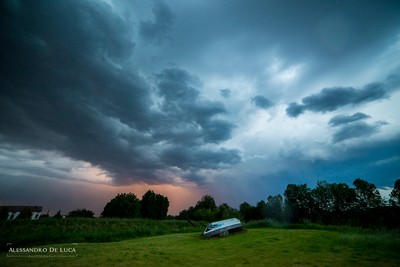 The storm over us