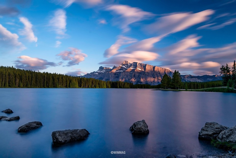 One of my favorite location in Banff is The Two Jack Lake. It was overcast and raining when we ar...