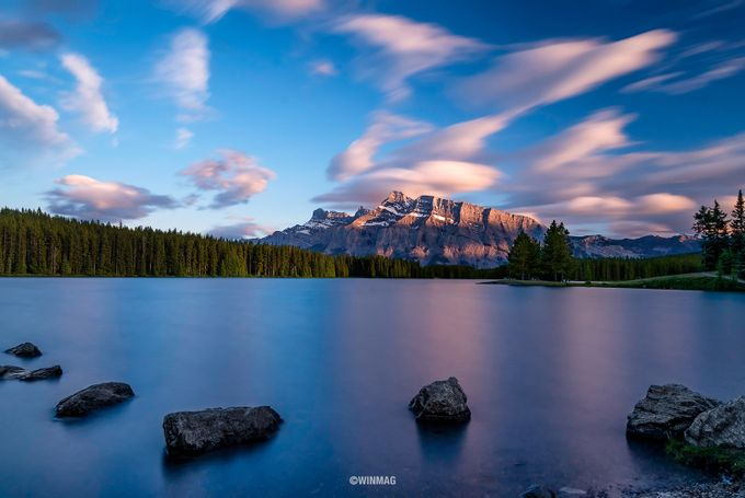 Two Jack Lake by winmagsino - Long Exposure In Nature Photo Contest