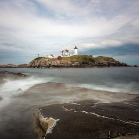 Nubble Lighthouse on Cape Neddick in York, Maine.