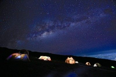 Stars over Barranco Camp - Kilimanjaro