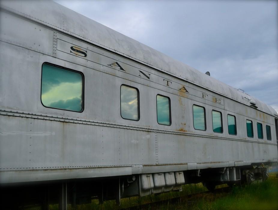Santa Fe Train Cloud Reflections