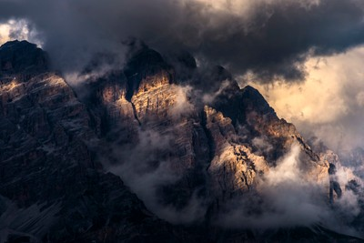 Monte Cristallo evening light