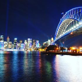 My first night shot of Sydney for Vivid.  A bit hard to be satisfied but oh well, I tried my best so I'm happy.