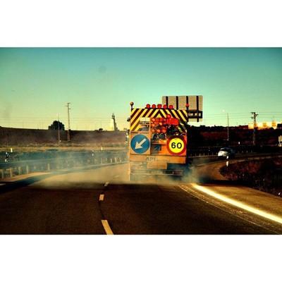 Drivin - that smoke was toxic -