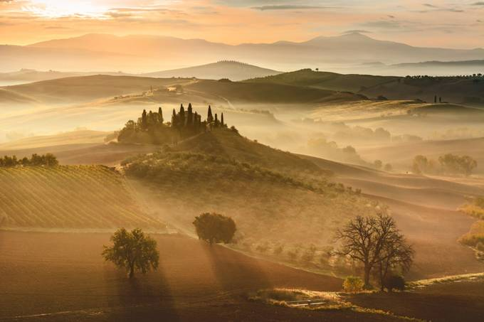 Golden sunrise by GiovanniModesti - Mist And Drizzle Photo Contest