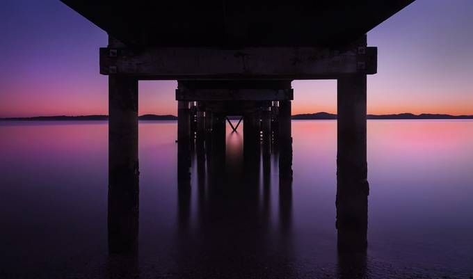 Under Maraetai Wharf by johngregory - The View Under The Pier Photo Contest