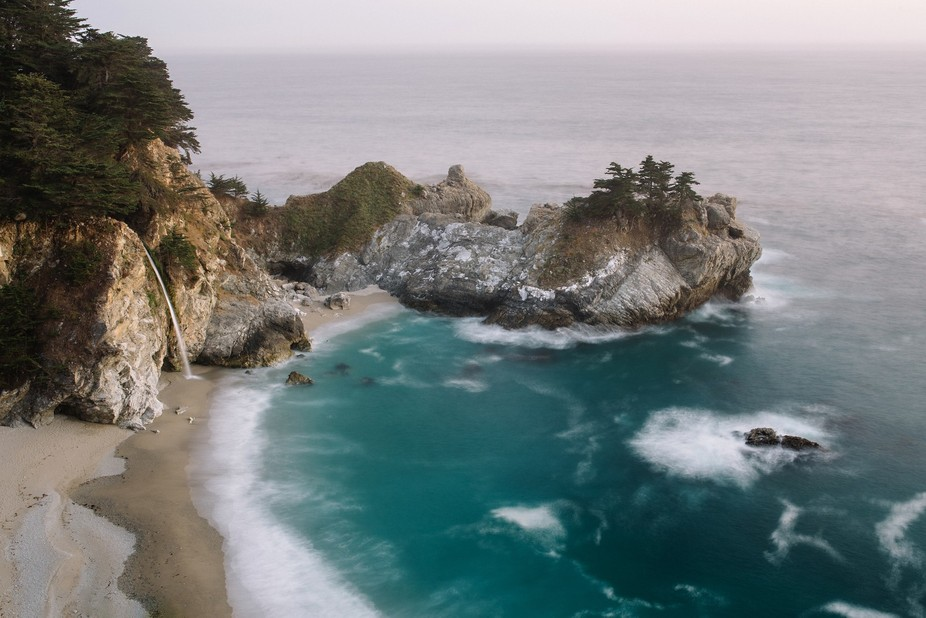 McWay Falls is literally a 5 second walk down a path off of Highway 1 in Big Sur.  This is one of...
