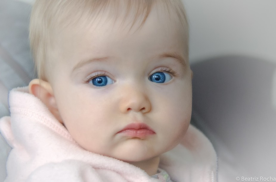 Brilliant eyes of a 6 month-old baby