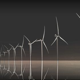 Photo taken in Texas panhandle with some editing to emphasize the beauty of the windmills...