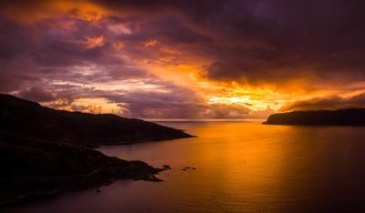 Kalvag Aerial Sunset