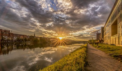 Maribor (Lent) in the morning..Slovenia