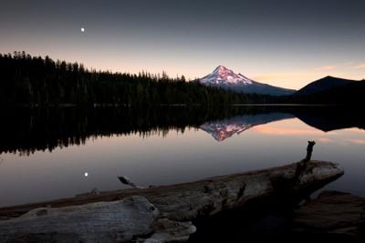 Mount Hood reflecting on Lost Lake