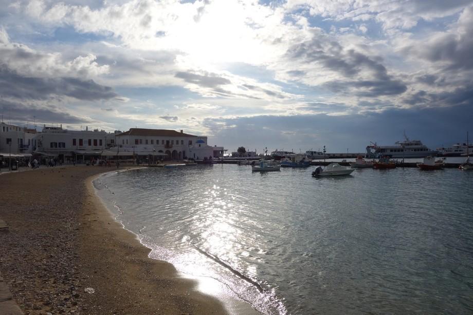 The seaside area in the little town found in Mykonos