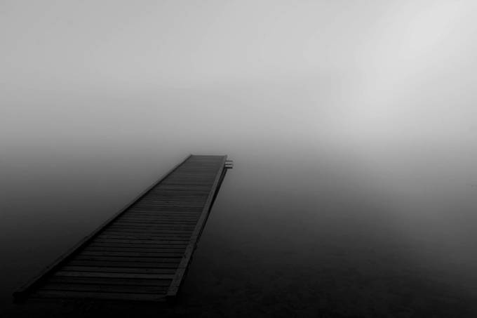 Pier into the Mist by suegraves - Rule Of Thirds Photo Contest v3
