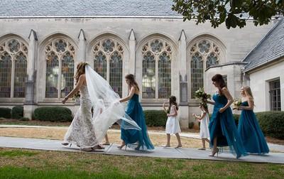 Emory Presbyterian bride and bridesmaids