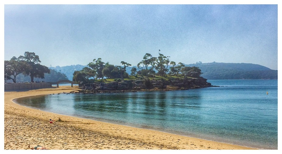 Beautiful Balmoral Beach is a site to behold, painters often seen poised to capture its scenery a...