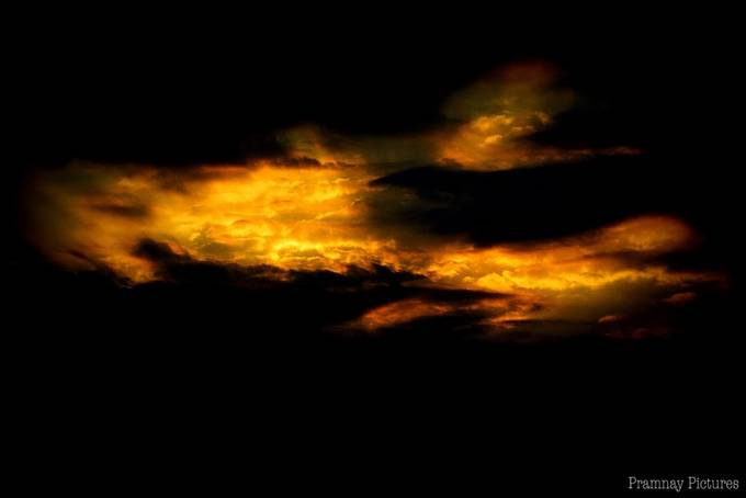The Golden Sky  during  Sunset