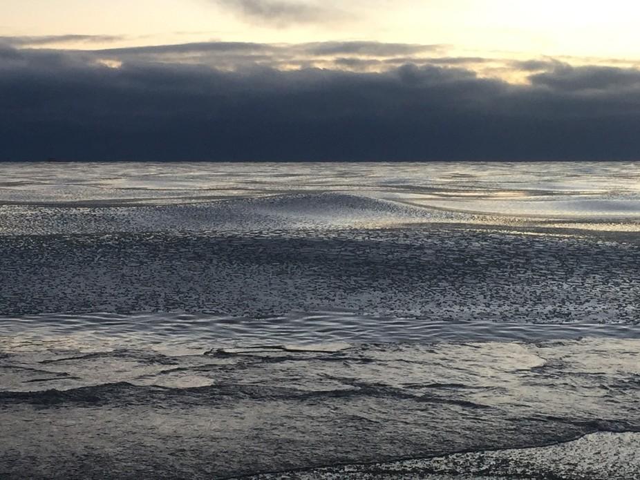Ice waves on Lake Michigan