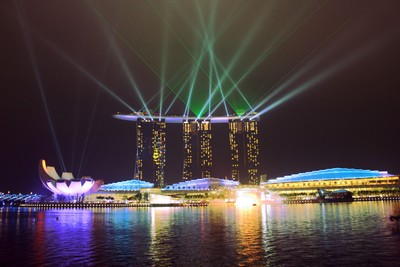 Marina Bay Sands Laser Display