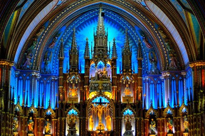 Notre-Dame Basilica of Montreal.