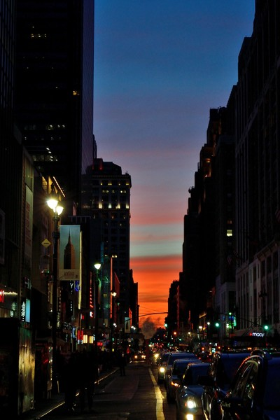 Street Canyon, New York City.