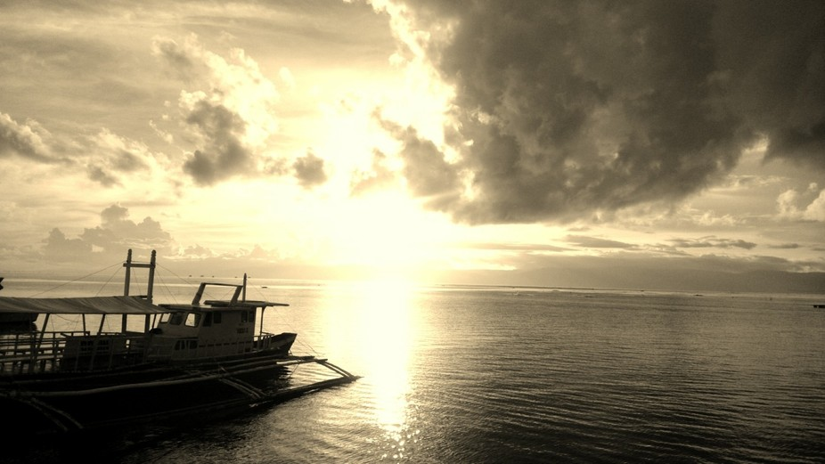 Sunrise somewhere in Dumaguete Philippines.