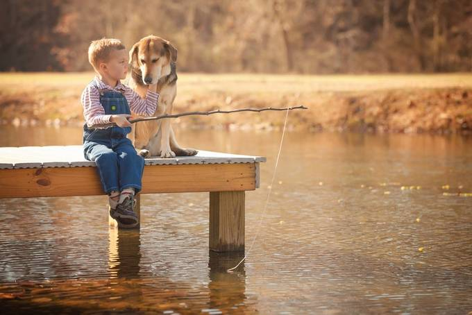 Just Fishin' by gbutts1121 - Kids And Pets Photo Contest