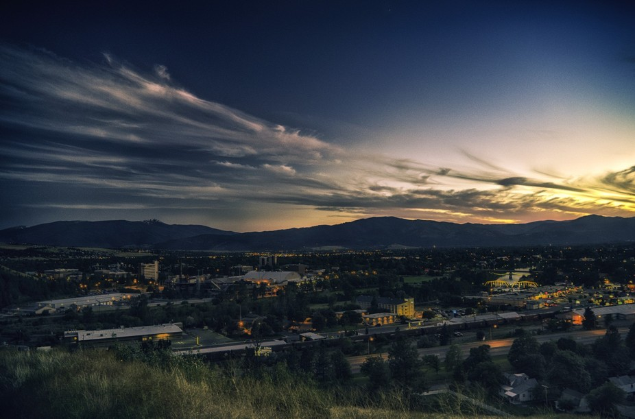 A slightly different take one editing. Taken on our attempted sunset from one of the natural view...