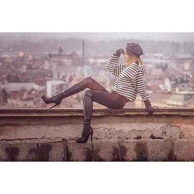 teodora on the roof#model #fashion #photo #roof #shooting #photoshooting #b