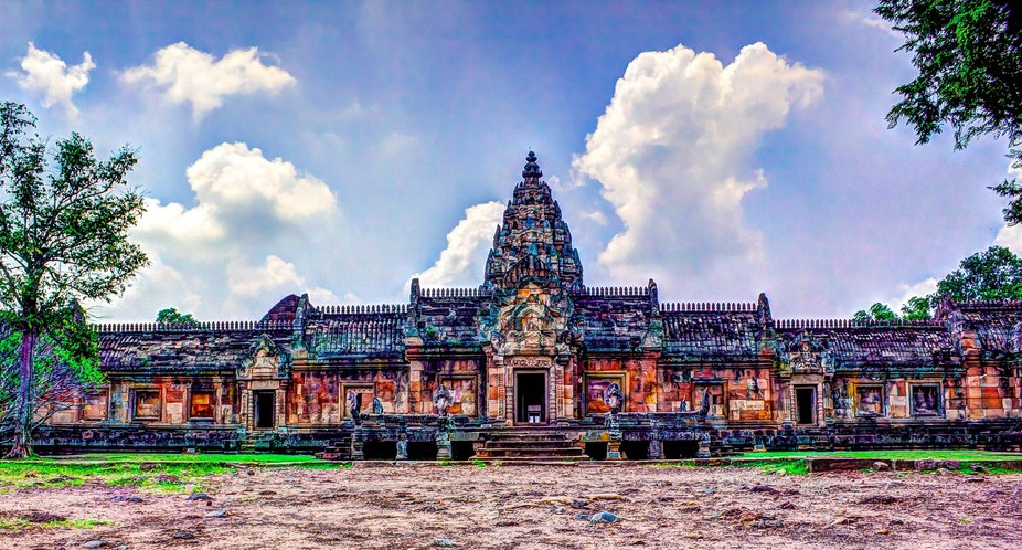 Phanomiunt Temple Front View HDR colour toned (1 of 1)