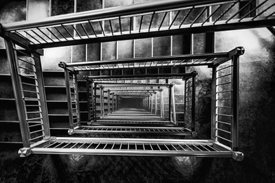 Black & White Stairway Medical Dental Building, 509 Olive Way, Seattle WA