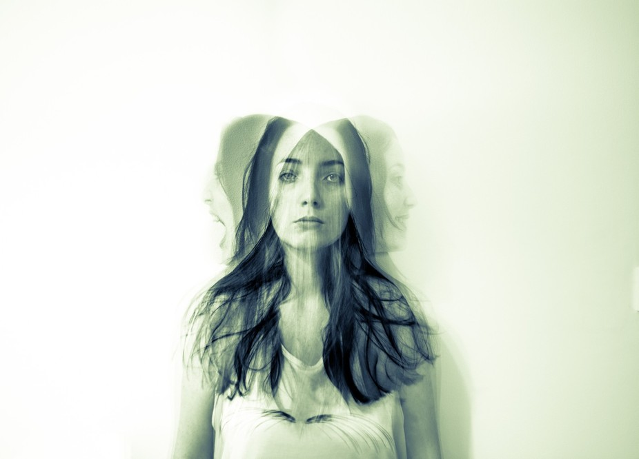 'Self Portrait of a Schizophrenic' taken by using in-camera multiple exposure a...