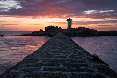 Sunset on Trevignon lighthouse