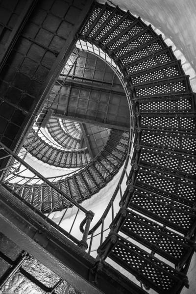 Black & White Spiral Staircase