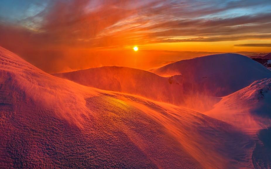 Georgia, mountain peak Mamzdyshha.
