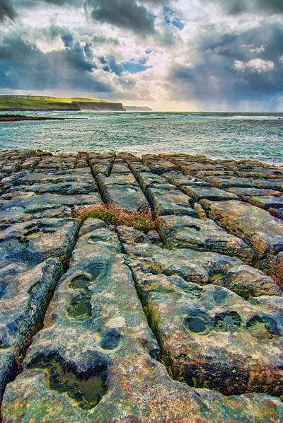 Limestone pavement, Burren, Co Clare coast