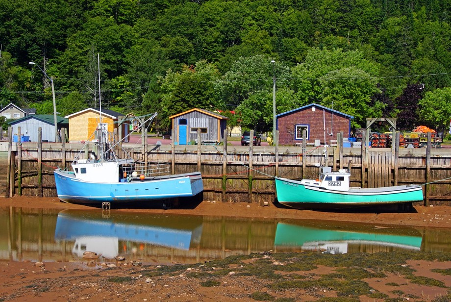 Small town in New Brunswick, Canada on the Bay of Fundy