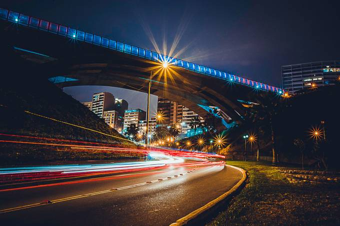 Miraflores at Night by hartmanc10 - Composition And Leading Lines Photo Contest