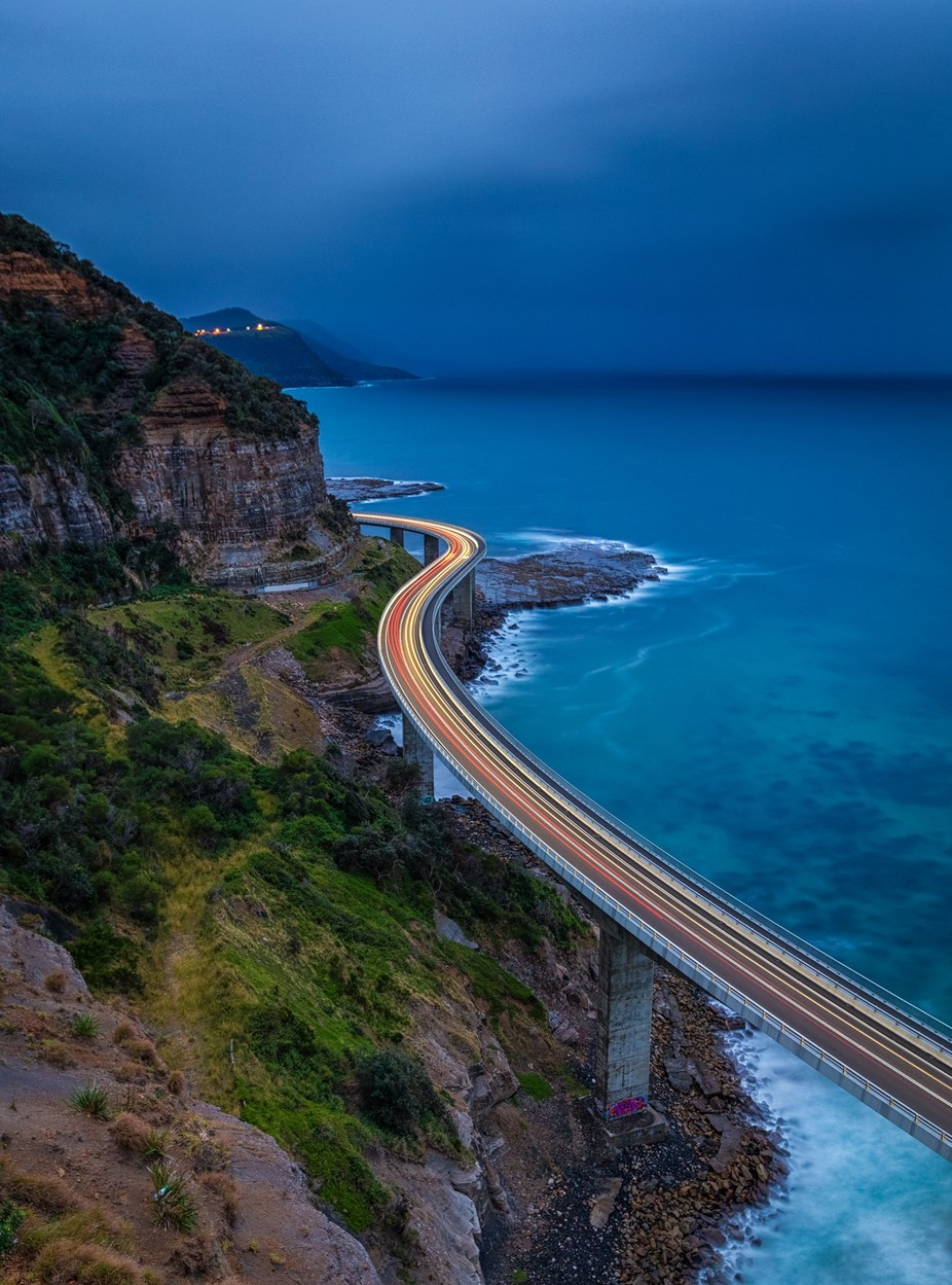 Sea Cliff Bridge - NSW, Australia by tassiegrammer - Composing with Curves Photo Contest