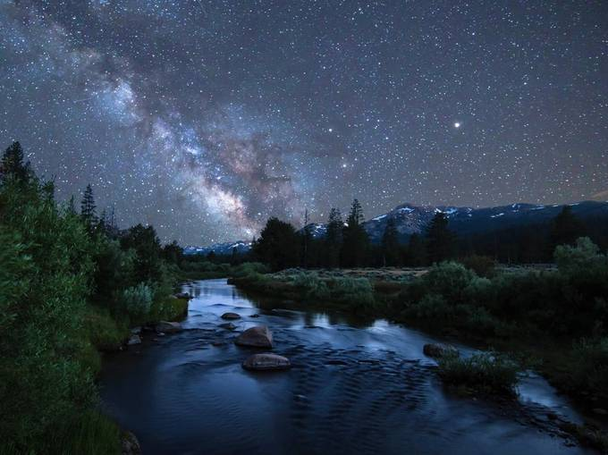 Carson River Under The Stars by BobKendrick - Capture The Milky Way Photo Contest
