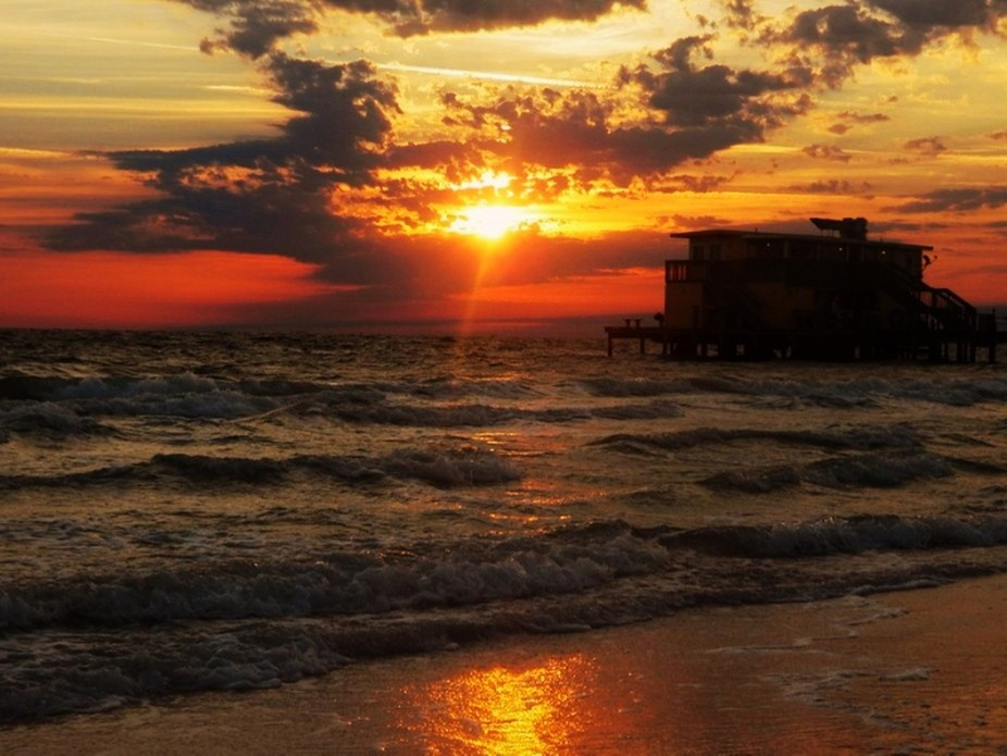 Sunrise pier beach