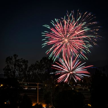 Fireworks over Beaumont, California