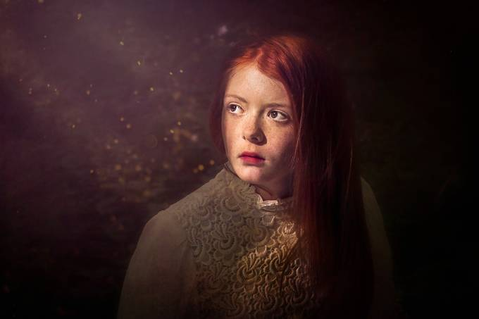 The light on her face by karenlong - Faces With Freckles Photo Contest