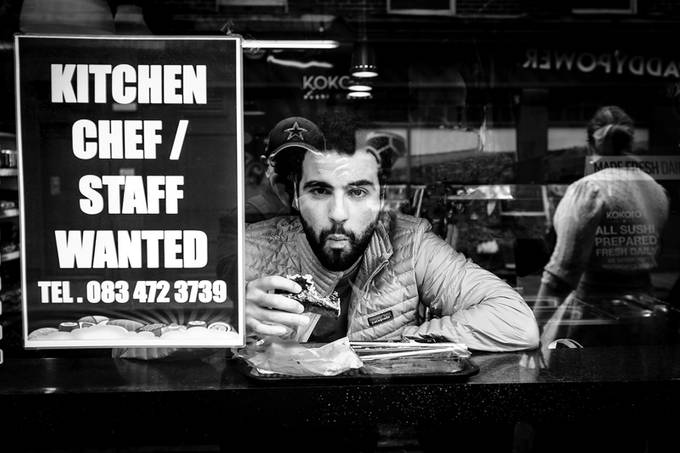 Man in a cafe by boynesider - City Life In Black And White Photo Contest